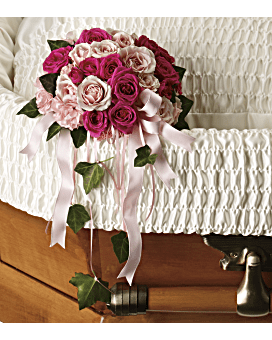 Rose Reflection Casket Insert Specialty Arrangement