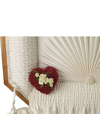 A Devoted Heart Casket Insert Flowers