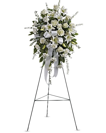Sentiments Of Serenity Spray Sympathy Arrangement Teleflora