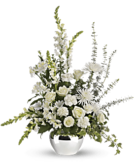 Serene Reflections Bouquet Basket Arrangement