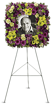 Mosaic of Memories Square Easel Wreath Flowers