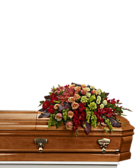 A Fond Farewell Casket Spray Bouquet