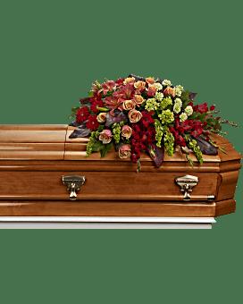 A Fond Farewell Casket Spray Bouquet