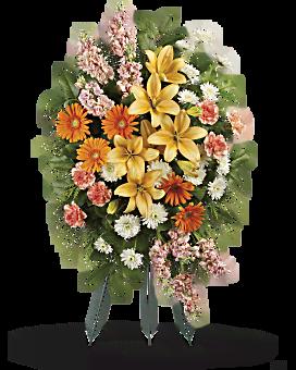 Treasured Lilies Spray Sympathy Arrangement