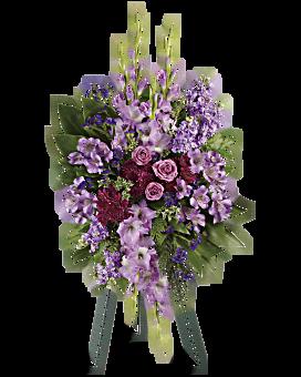 Lavender Reflections Spray Sympathy Arrangement