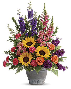 Teleflora's Hues Of Hope Bouquet Flower Arrangement