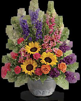 Teleflora's Hues Of Hope Bouquet Flower Arrangement
