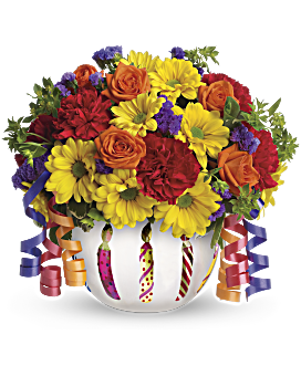 Teleflora S Brilliant Birthday Blooms Bouquet