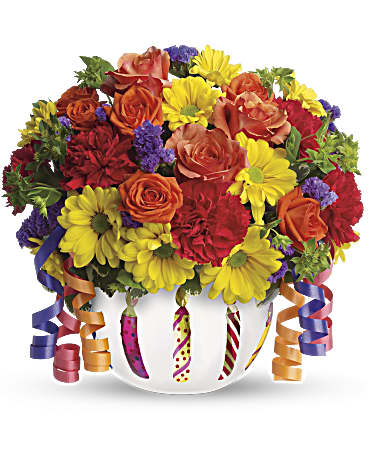 78a8699c9ca0 Teleflora s Brilliant Birthday Blooms Bouquet - Teleflora