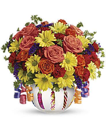 Telefloras Brilliant Birthday Blooms