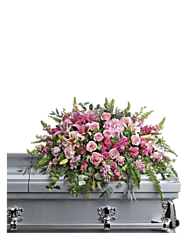 Beautiful Memories Casket Spray Sympathy Arrangement