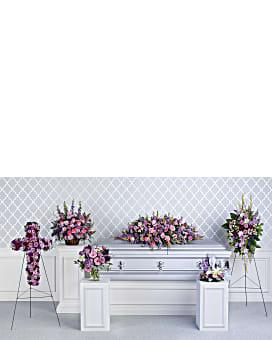 Teleflora's Lavender Tribute Collection Sympathy Arrangement