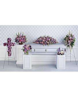 Teleflora's Lavender Tribute Collection Sympathy Arrangement