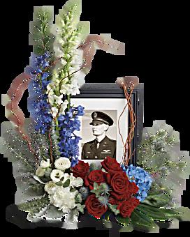 Always With Us Photo Tribute Bouquet Flower Arrangement