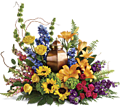 With All Our Hearts Cremation Tribute Flowers
