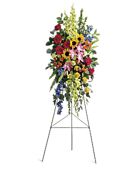 Love Lives On Spray Sympathy Arrangement