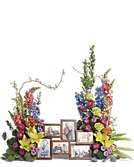Loving Farewell Photo Tribute Bouquet Flower Arrangement