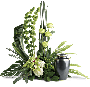 Tranquil Peace Cremation Tribute Flowers