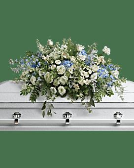Tender Remembrance Casket Spray Sympathy Arrangement
