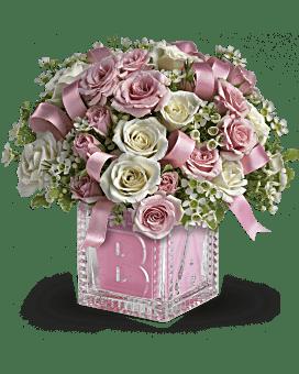 Alphabet de bébé de Teleflora - bouquet rose