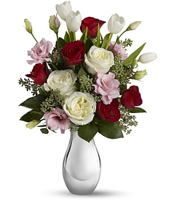 Love Forever Bouquet with Red Roses Flowers