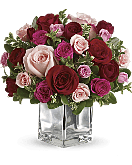 Telefloras love that pink bouquet with roses teleflora telefloras love medley bouquet with red roses flower arrangement mightylinksfo