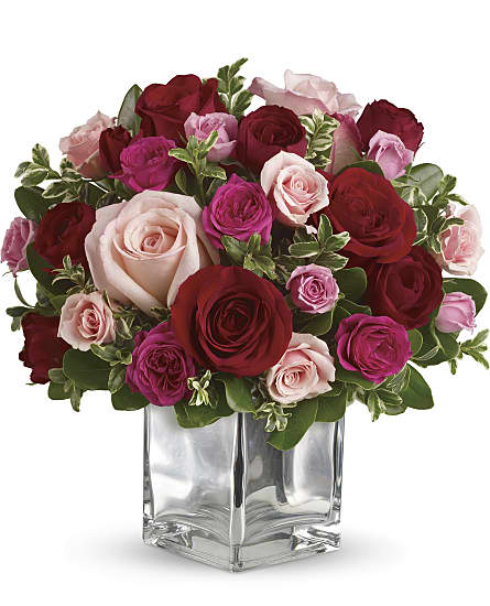 Red Roses Flowers Love Medley Bouquet
