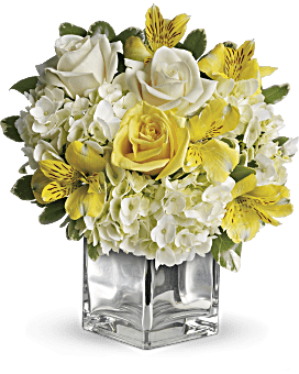 Quick View Teleflora S Sweetest Sunrise Bouquet Flower Arrangement