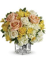 Alstroemeria and Roses bouquet
