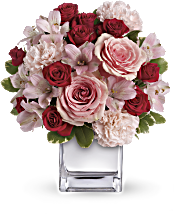 Teleflora's Love That Pink Bouquet with Roses Flowers