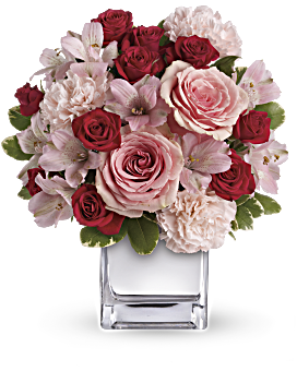 Teleflora 39 s love that pink bouquet with roses teleflora - Bouquet of red roses hd images ...