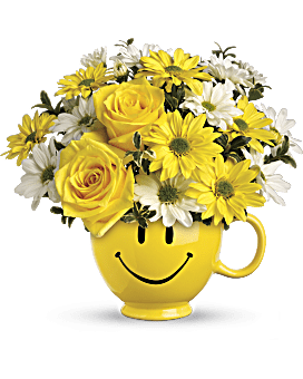 Teleflora's Be Happy® Bouquet with Roses Bouquet