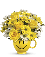 Teleflora's Be Happy Mug Bouquet