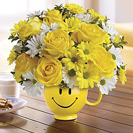 Telefloras be happy bouquet with roses teleflora mightylinksfo