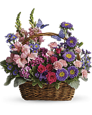 46ea32770e285 image of Country Basket Blooms with sku T48-3A