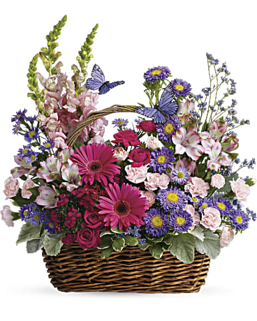 Teleflora Country Basket Blooms Premium Flower Basket