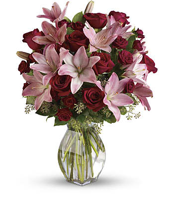 Lavish Love Bouquet with Long Stemmed Red Roses Flowers