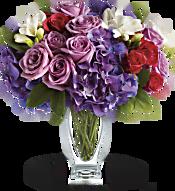 Teleflora's Rhapsody in Purple Flowers