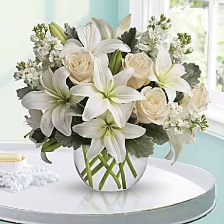 Isle Of White Bouquet Teleflora