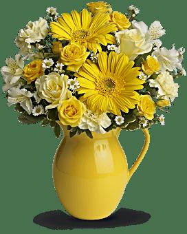 Bouquet pichet Journée ensoleillée de Teleflora