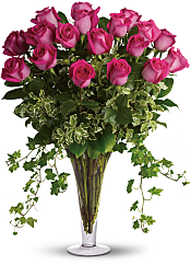 Dreaming in Pink - Long Stemmed Pink Roses Flowers