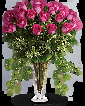 Rêves en rose -  Bouquet de roses roses à longues tiges
