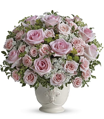 Teleflora's Parisian Pinks with Roses Flowers