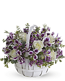 Arrangement floral panier de doux Moments