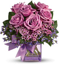 Teleflora's Morning Melody with lavender Roses