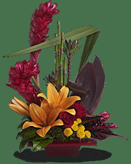 Arrangement floral Euphorie tropicale de Teleflora