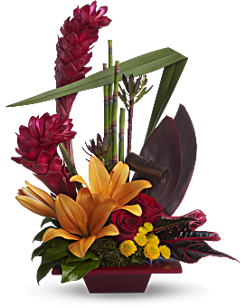 Teleflora's Tropical Bliss Flower Arrangement