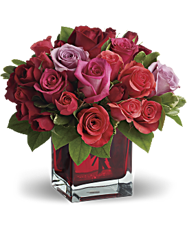 Red flowers arrangements will wow teleflora quick view madly in love bouquet with red roses by teleflora bouquet mightylinksfo