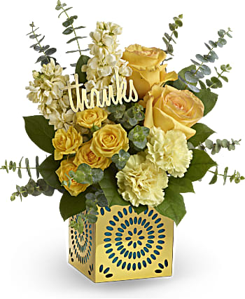 Send Teleflora's Shimmer of Thanks thank you bouquet
