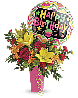 Coup bouquet d'anniversaire